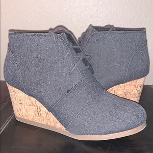 Maurices wedge tie shoe